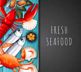 Seafood on restaurant template