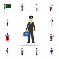 business man cartoon icon. Detailed set of color profession icons. Premium graphic design. One of the collection icons for websites, web design, mobile app