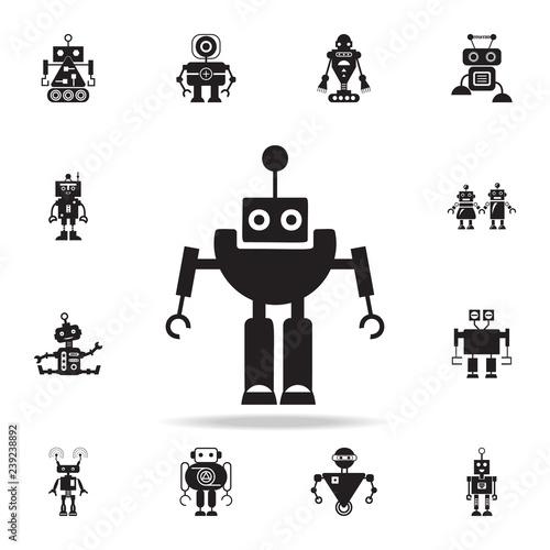 robot with antenna icon  Detailed set of robot icons