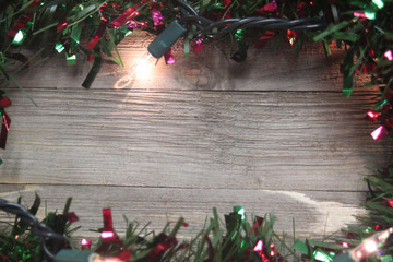 Holiday wood border