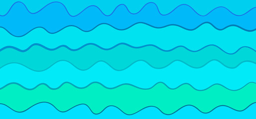 Abstract nautical wallpaper of the surface. Wavy sea background. Pattern with lines and waves. Multicolored texture. Decorative style. Doodle for design