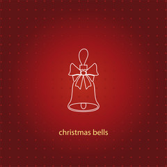 christmas bell line icon