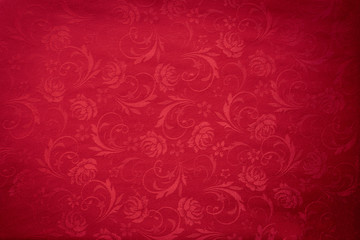 Copy space for text on red texture background, concept of Chinese new year background. Wall mural