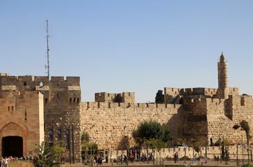 Walls of Old city Jerusalem, Israel
