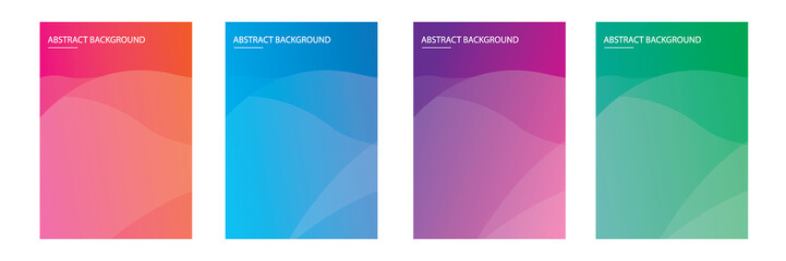 set of  modern abstract background with soft gradient color
