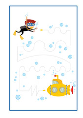 Tracing Lines game  vector for preschool or kindergarten  and special Education. Developing finemotor skills . It greatfor beginning learners