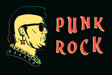 Punk rock design print. punk is not dead anarchy poster