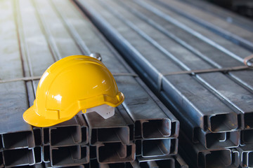 Construction helmets Yellow helmet, construction site