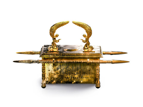 Ark of the covenant isolated on white / 3D illustration