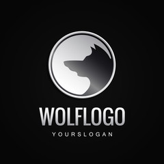 Simple Unique wolf Icon Symbol Logo For Business