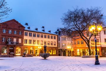 Winter in der Altstadt von Mainz