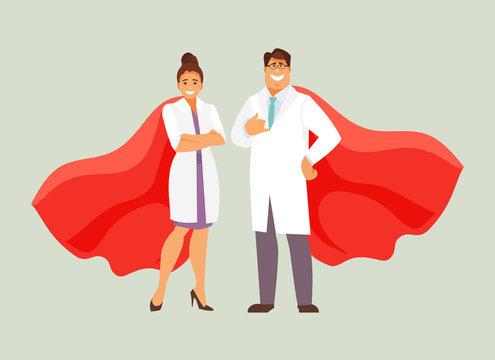 Doctors superheroes vector