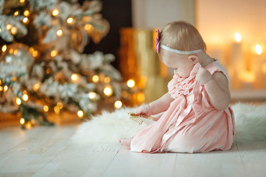 Little baby at Christmas