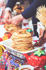 Treats for guests pancakes at Shrovetide
