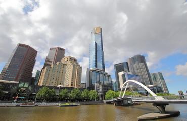 Southbank cityscape Melbourne Australia