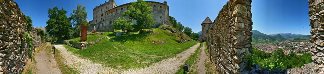 Pergine Valsugana, panorama del castello a 360°