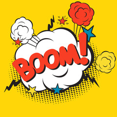Wall Mural - Comic explosions, Comic Vector cartoon illustration explosions, Boom, Comics Boom, sticker tag, sticker, Pop art, explosions