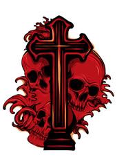 skulls with cross