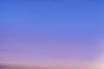 Calm sky at sunset