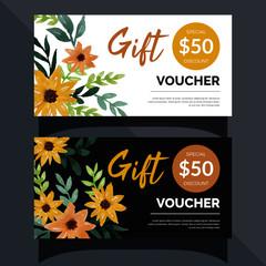 voucher card template design