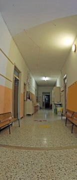 hall of a nursery school without children