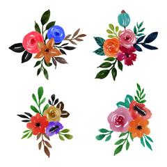 watercolor floral flower ornament art design