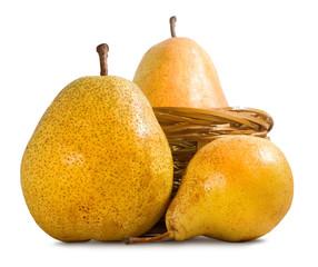Fototapete - isolated image of a pear closeup
