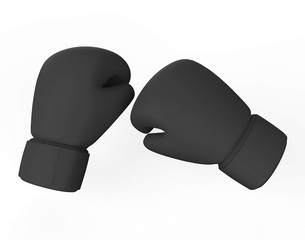 Realistic boxing gloves isolated on white background. 3d illustration