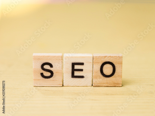 Seo Search Engine Optimization Business Words Quotes Concept Stock