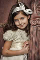 Vintage portrait of a little girl