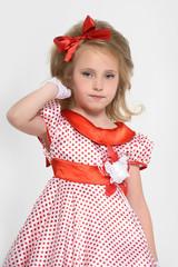 Little girl. Glamour, backgrounds.