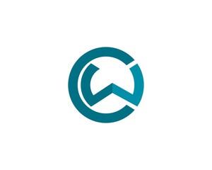 CW initial logo