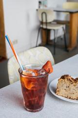 Iced tea, Antwerp, Belgium, May 2017