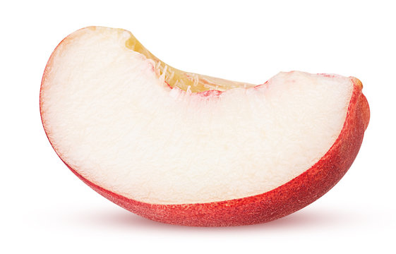 Ripe nectarine fruits slice
