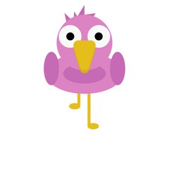 Bird Flamingo Cute Animal Cartoon Character For Kids