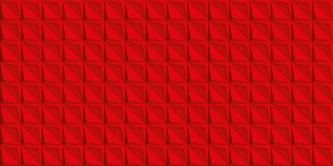 Volume realistic red texture, geometric seamless tiles pattern, vector design background for you projects