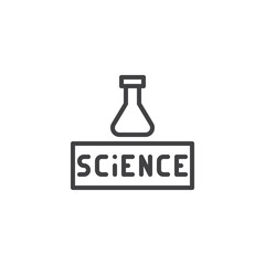 Chemistry Science outline icon. linear style sign for mobile concept and web design. Chemical flask simple line vector icon. Symbol, logo illustration. Pixel perfect vector graphics