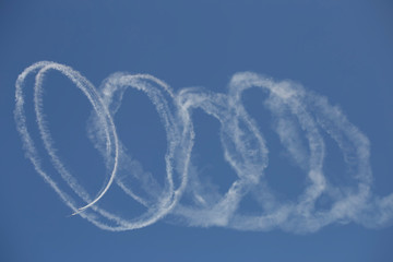 Aerobatics in an air show