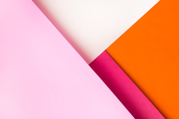 Background of shape and geometry. Colored background decorations with paper.