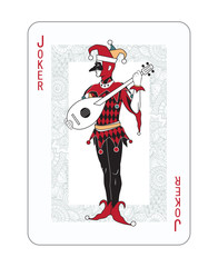 Playing cards in vintage style for poker. Original design, many small details, retro style