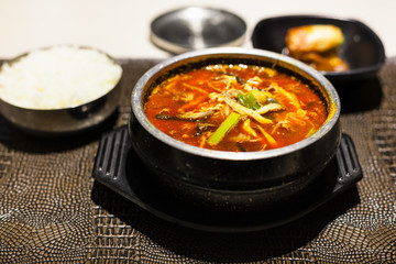 Yukgaejang (spicy beef soup) in local cafe