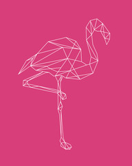 flamingo line abstraction. Ideal for tattoos, web backgrounds, surface textures, textiles.