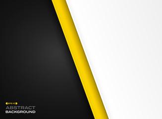 Abstract of futuristic technology yellow black white background. - fototapety na wymiar