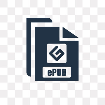 Epub vector icon isolated on transparent background, Epub  transparency concept can be used web and mobile