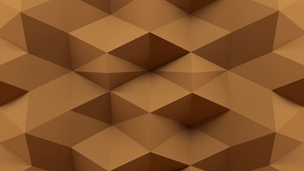 Abstract 3D Rendering Brown Background