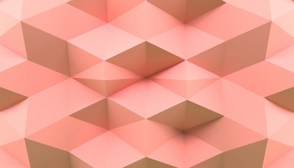 Abstract 3D Rendering Pink Background