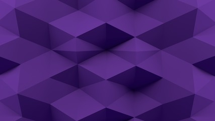 Abstract 3D Rendering Purple Background