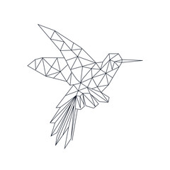 hummingbird linear abstraction. Ideal for tattoos, web backgrounds, surface textures, textiles.