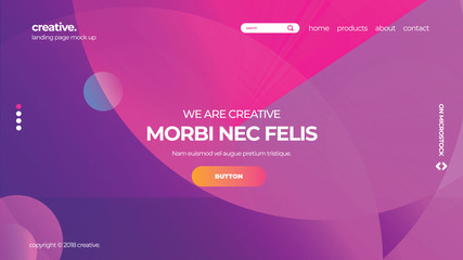 Gradient Background Vector Website App Landing Page