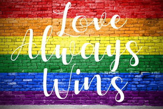 Love always wins Graffiti